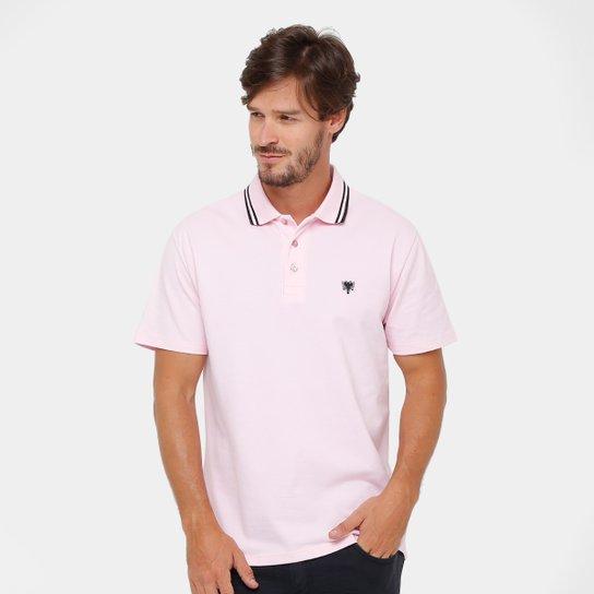 d935669f30a3f Camisa Polo Cavalera Básica Bordado Masculina - Rosa Claro   Zattini