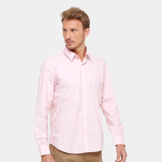 4a990519ac Camisa Social Ellus Clássica Small Masculina - Rosa Claro