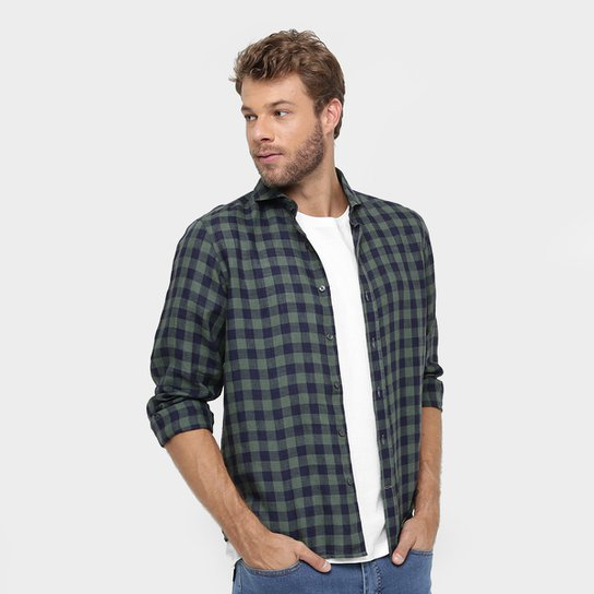 Camisa Richards Linho Xadrez - Compre Agora  9438fc8d01e83