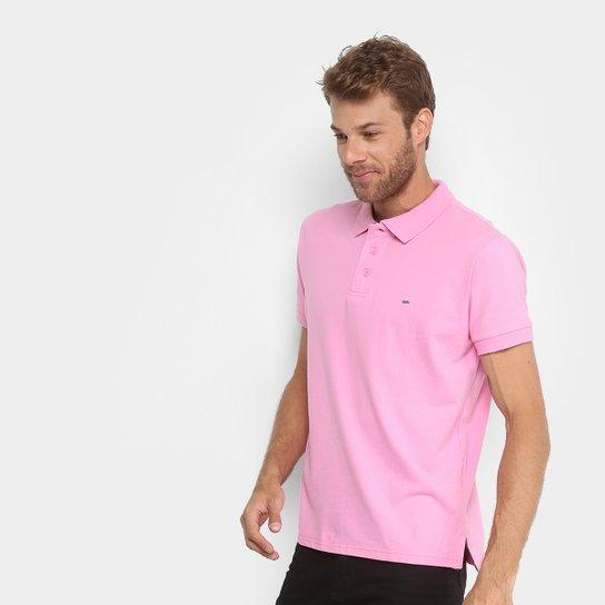 7050b569de Camisa Polo Gangster Piquet Com Elastano Masculina - Rosa Claro ...