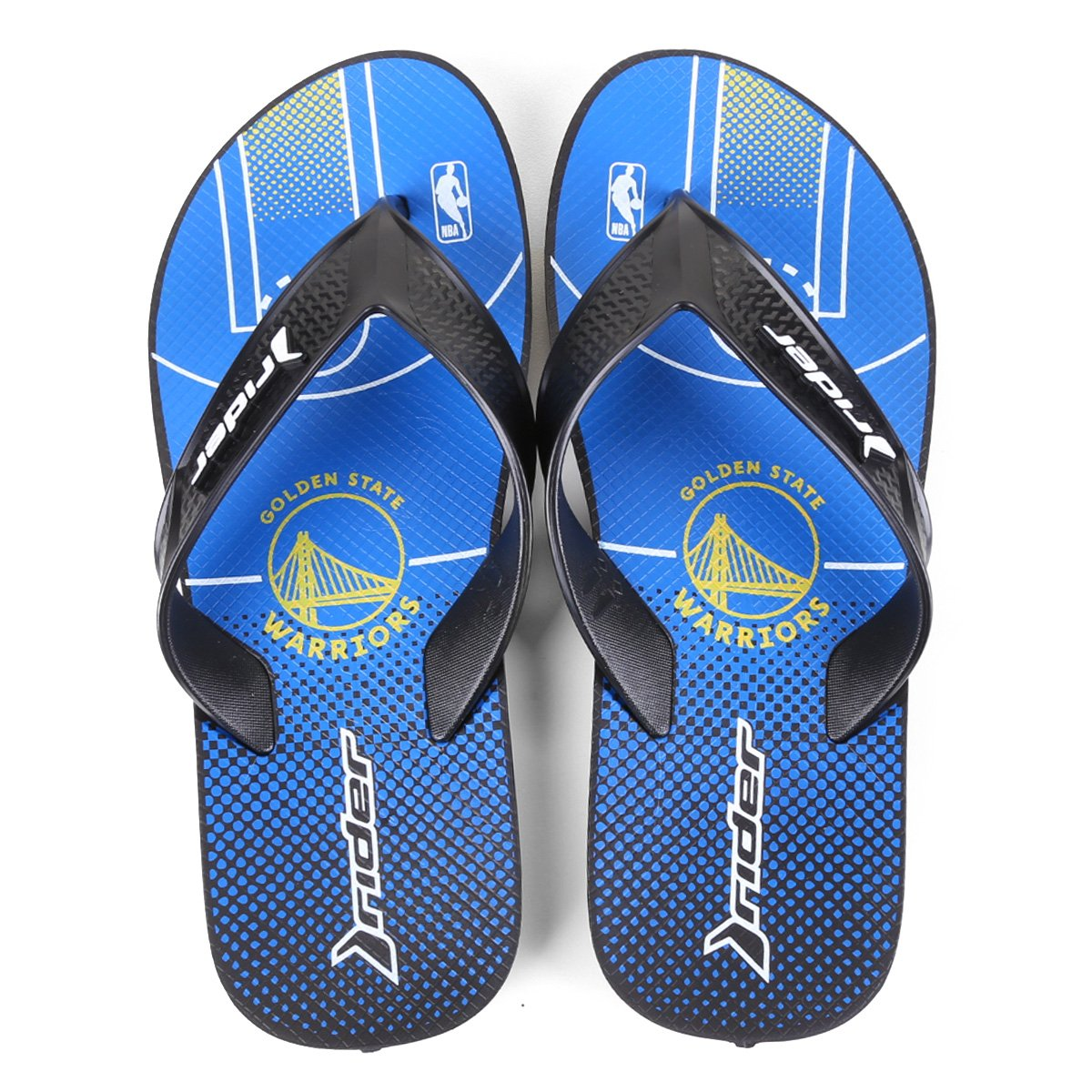 Chinelo NBA Golden State Warriors Rider Street Bold Ad Masculino