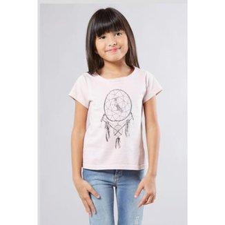 76605ebefb Camiseta Infantil Cata-Sonhos Reserva Mini Feminina