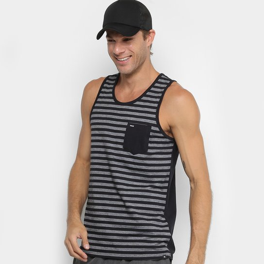 Regata Hurley Stripe Bolso Masculina - Mescla Escuro - Compre Agora ... ef10921e043
