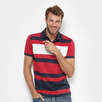 603e0d05ac7ab Camisa Polo Aleatory Listrada Fio Tinto Masculina