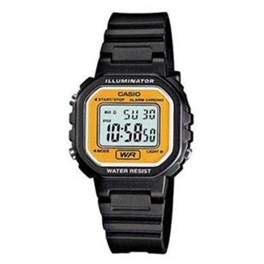 72cc6f1a031 Relógio Feminino Casio Digital - Preto e Amarelo - Compre Agora ...