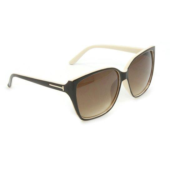 c2b9a262a Óculos Bijoulux de Sol Quadrado e Bege - Compre Agora | Zattini