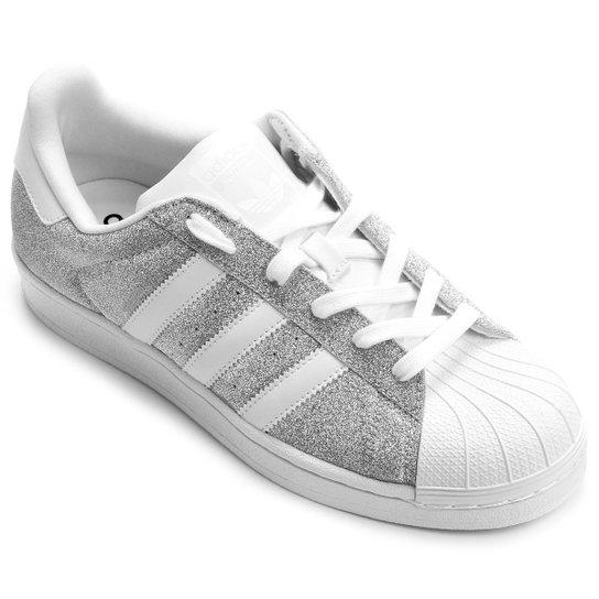 f7950722f6b Tênis Adidas Superstar - Prata e Branco - Compre Agora