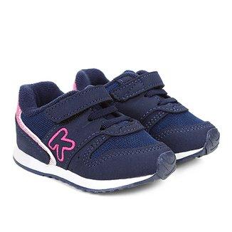 1ad27f81f30 Tênis Infantil Klin Velcro Mini Walk Menina