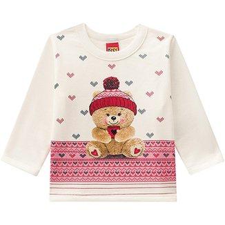 d077bbc49a Conjunto Moletom Infantil Kyly Estampa Urso Feminino
