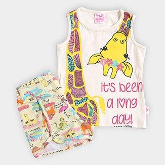 Conjunto Infantil For Girl Estampa Girafa Feminino 15124dd900f