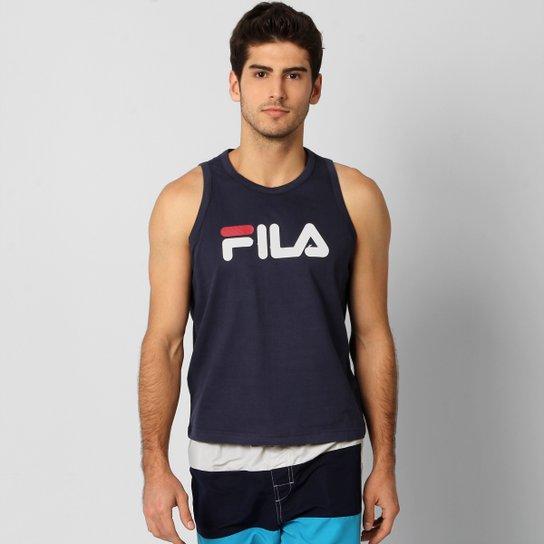 Camiseta Regata Fila Letter - Marinho e Branco - Compre Agora  8de0941a99c