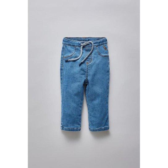 e5bfe4094 Calça Masculina Infantil Bb Jeans Bolso Basico Reserva Mini - Azul Petróleo