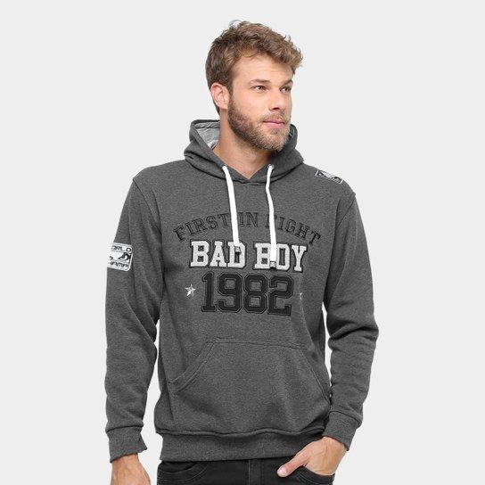 Moletom Bad Boy Hoddie Fight Masculino - Grafite e Preto - Compre ... 0f857b4a336e5