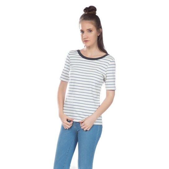 Camiseta Levis Back Scoop Listrada - Branco+Marinho ad66f7eb99f