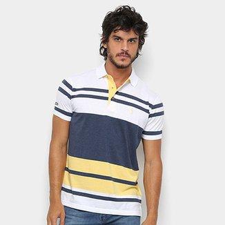 244eca64d9689 Camisa Polo Aleatory Fio Tinto Listrada Masculina