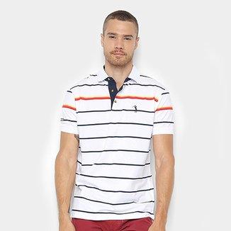 d4f05f5b90 Camisa Polo Aleatory Fio Tinto Listrada Masculina