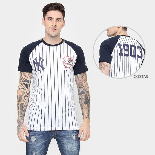 efe9313c27485 Camiseta New Era MLB Team 34 New York Yankees - Branco+Marinho