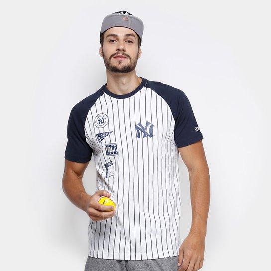 Camiseta MLB New York Yankees New Era 25 Team Masculina - Branco+Marinho 2a15bd8d34d
