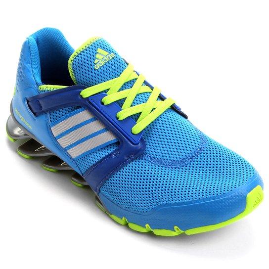 d7e498367b9 Tênis Adidas Springblade Ignite Masculino - Azul+Verde Limão