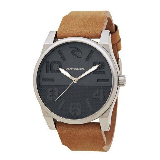 ab49b9f30d7 Relógio De Pulso Ripcurl Flyer - Aço - Prata e Marrom - Compre Agora ...