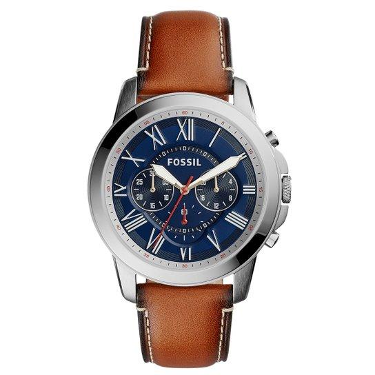 435ee31bfd6 Relógio Fossil Masculino FS5210 - Prata e Marrom - Compre Agora ...
