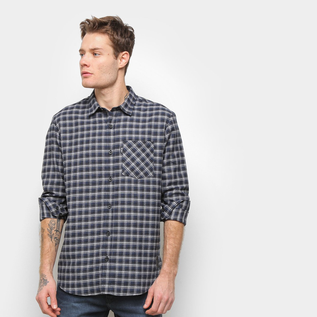 Camisa Manga Longa MCD Xadrez II Masculina