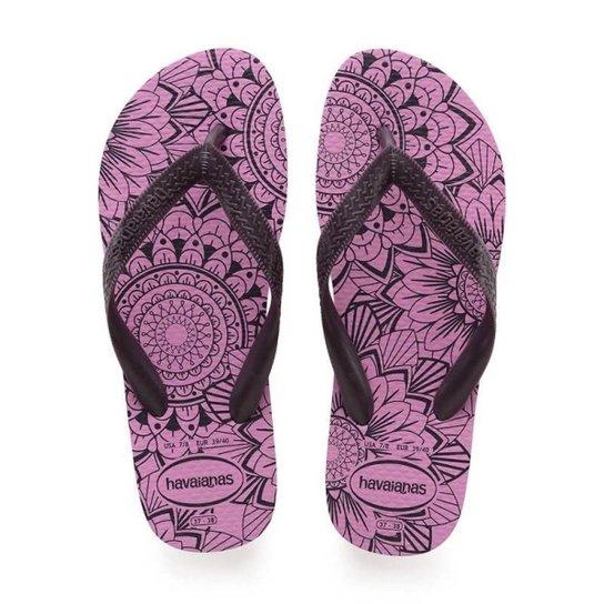 5b4d10840839a Chinelo Havaianas Color Mandala Feminino - Roxo e Preto - Compre ...