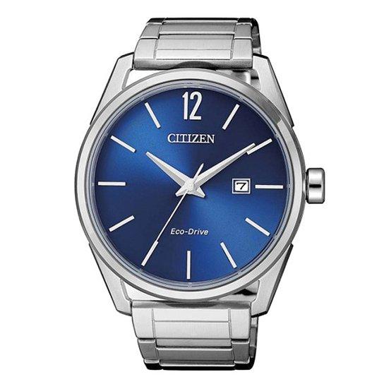 afb1f1ddf77 Relógio Citizen Analógico TZ20680F Masculino - Prata e Azul - Compre ...