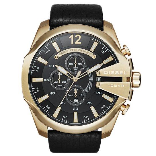 9a98bde4afe Relógio Diesel Analógico Only The Brave - Dourado e Preto - Compre ...