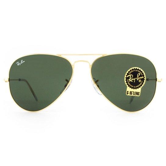 Óculos de Sol Ray Ban Aviator Classic RB3025L L0205-58 Masculino -  Dourado+Preto d067599531
