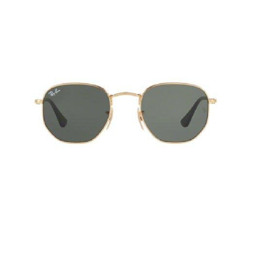 c16cc5ec3 Óculos de Sol Ray Ban Hexagonal RB 3548NL 001 - Dourado e Preto ...