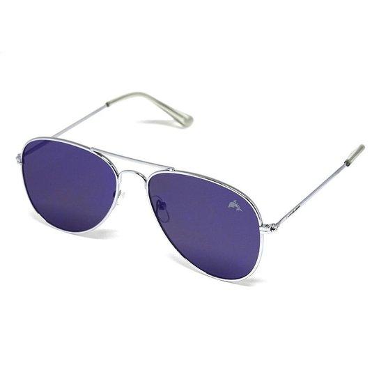 03052d892 Óculos De Sol Aviador Cayo Blanco - Prata+Azul
