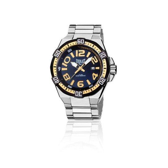8861e20672b Relógio Masculino Analógico Everlast Cx e Pulseira Aço - Prata e ...