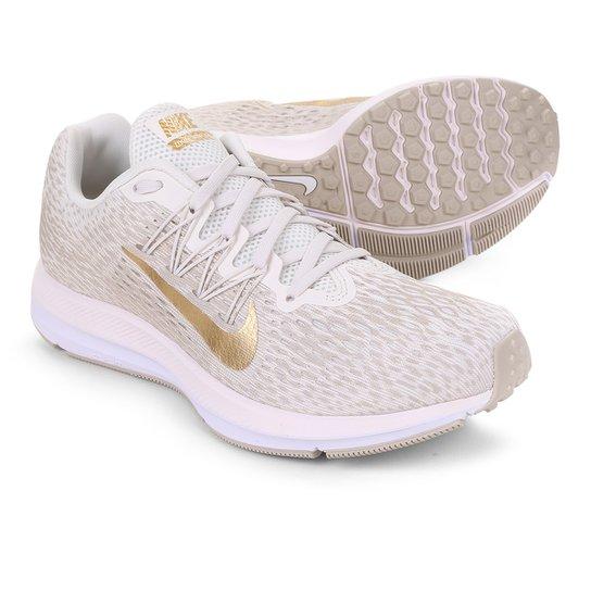 ba777ceb85 Tênis Nike WMNS Zoom Winflo 5 Feminino - Bege e Dourado - Compre ...