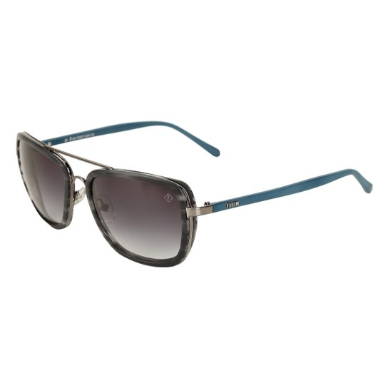 3cf83ba40c9ba Óculos Forum Lente Degradê Masculino - Prata e Azul - Compre Agora ...