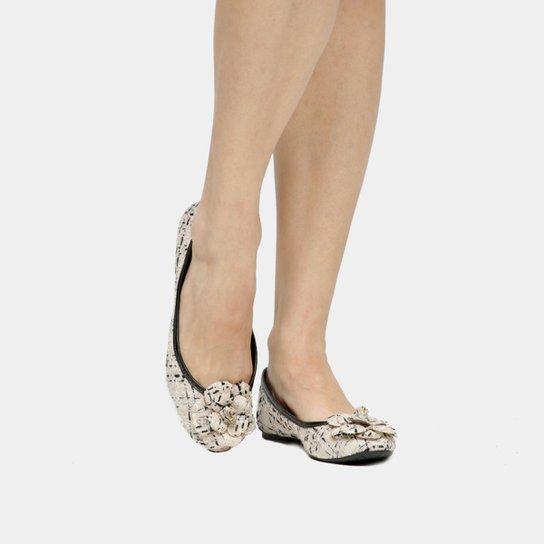 2679d21ce9 Sapatilha Capodarte Tweed Flor - Compre Agora