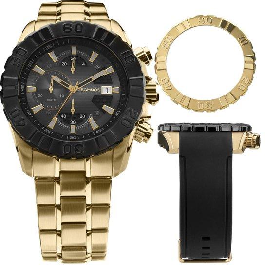 Relógio Technos Ts Carbon Masculino Cronógrafo - JS15BD 4P JS15BD 4P -  Dourado+ d257a0ef32