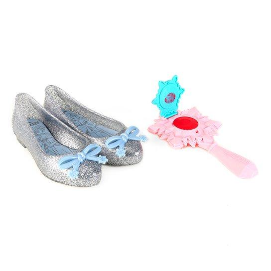c3e0b5cdf6 Sapatilha Infantil Grendene Frozen Realeza - Prata e Azul | Zattini