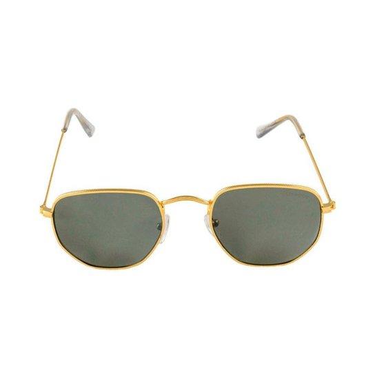 357d53d5e63ef Óculos de Sol Khatto Fusion Round Masculino - Dourado e Preto ...