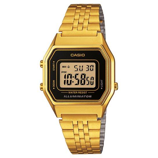 2d7a2f66e9 Relógio Casio Vintage - Dourado e Preto - Compre Agora