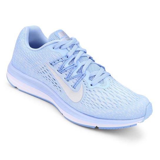38684f15547 Tênis Nike WMNS Zoom Winflo 5 Feminino - Azul e Prata - Compre Agora ...