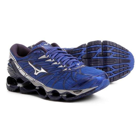 Tênis Mizuno Wave Prophecy 7 Masculino - Azul e Prata - Compre Agora ... f9a4324c77308