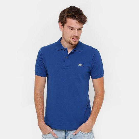 73db42bbb56 Camisa Polo Lacoste Original Fit Masculina - Azul e Branco - Compre ...