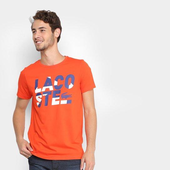 218e3257e8f Camiseta Lacoste Estampada Masculina - Compre Agora