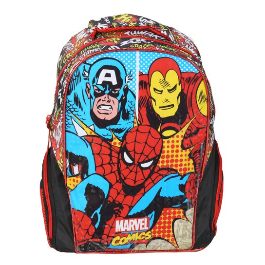 80b53991b Mochila Infantil Escolar Xeryus Marvel Comics Legends - Colorido