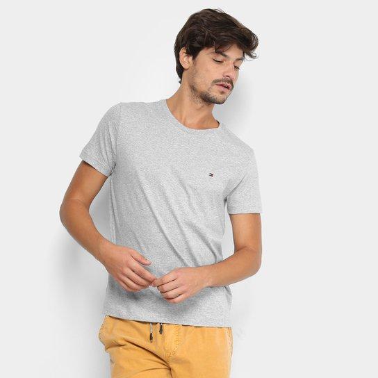 6bb5b41f02631 Camiseta Tommy Hilfiger Básica Masculina - Mescla - Compre Agora ...