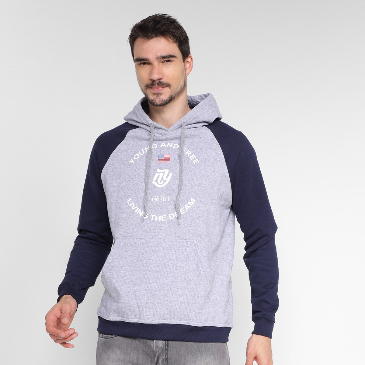 Moletom Industrie Young And Free Capuz Masculino