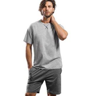 Pijama Curto Inspirate em Algodão Masculino 24ea4f43811ad