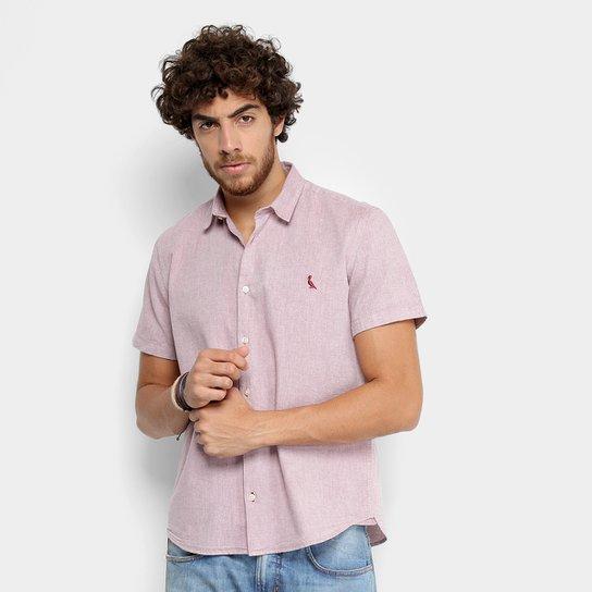 586b645630 Camisa Reserva Manga Curta Regular Oxford Masculina - Bordô - Compre ...