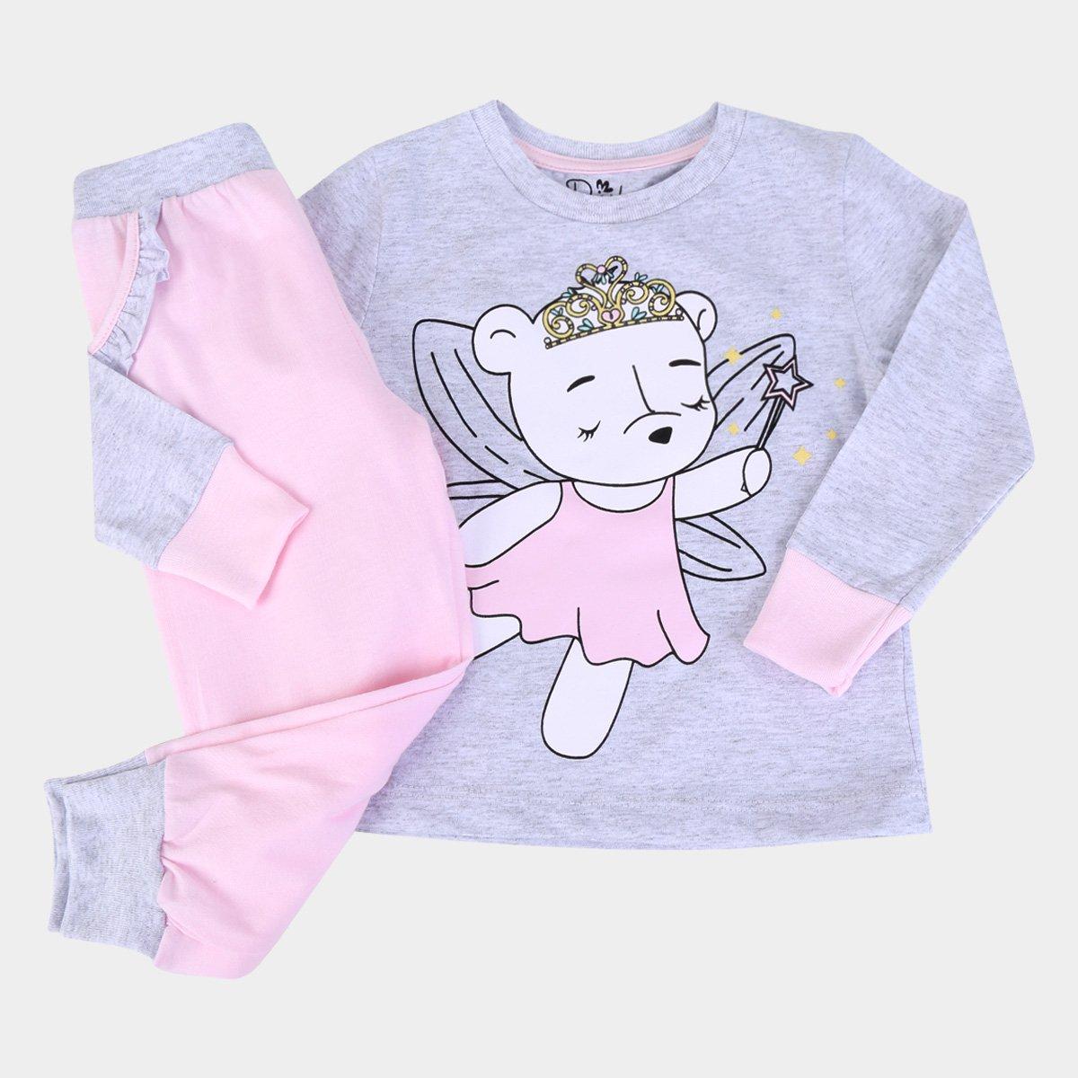 Pijama Infantil Evanilda Longo Fada Feminino